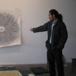 William Cordova during a community collaboration project crop